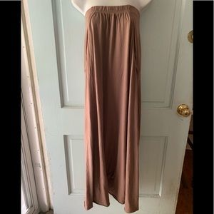 Free people FP beach taupe strapless maxi new